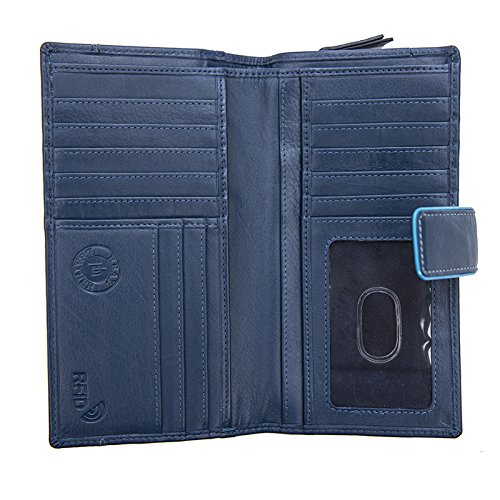 Femmes-Extra-Large-en-Cuir-Veritable-RFID-Bloquant-Organisateur-Clutch-Wallet-purse miniature 15