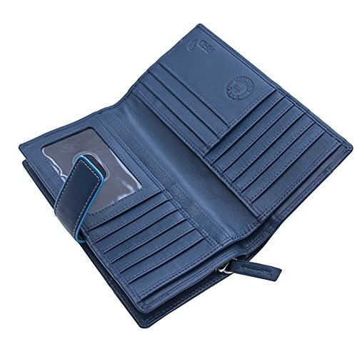 Femmes-Extra-Large-en-Cuir-Veritable-RFID-Bloquant-Organisateur-Clutch-Wallet-purse miniature 17