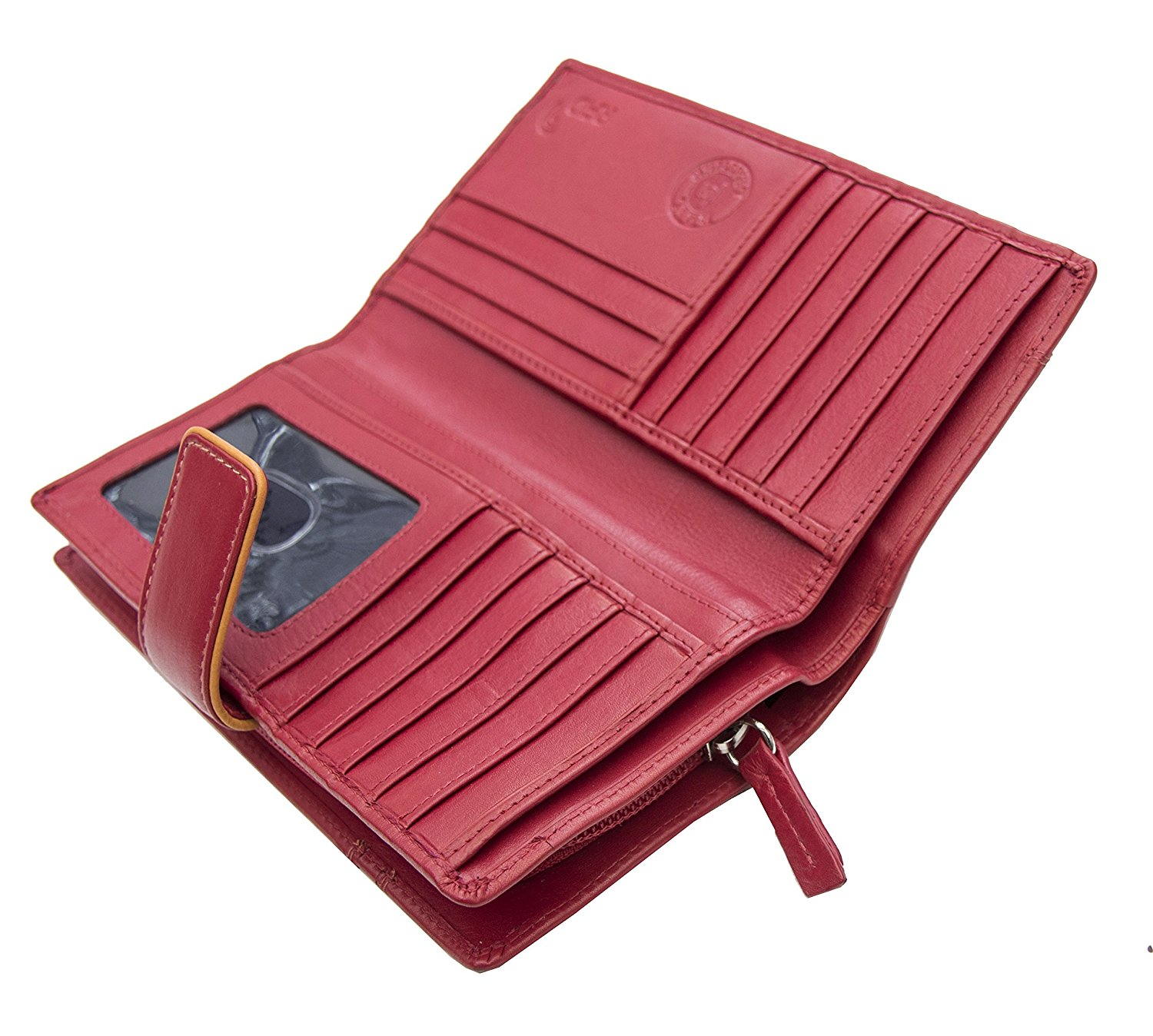 Femmes-Extra-Large-en-Cuir-Veritable-RFID-Bloquant-Organisateur-Clutch-Wallet-purse miniature 23