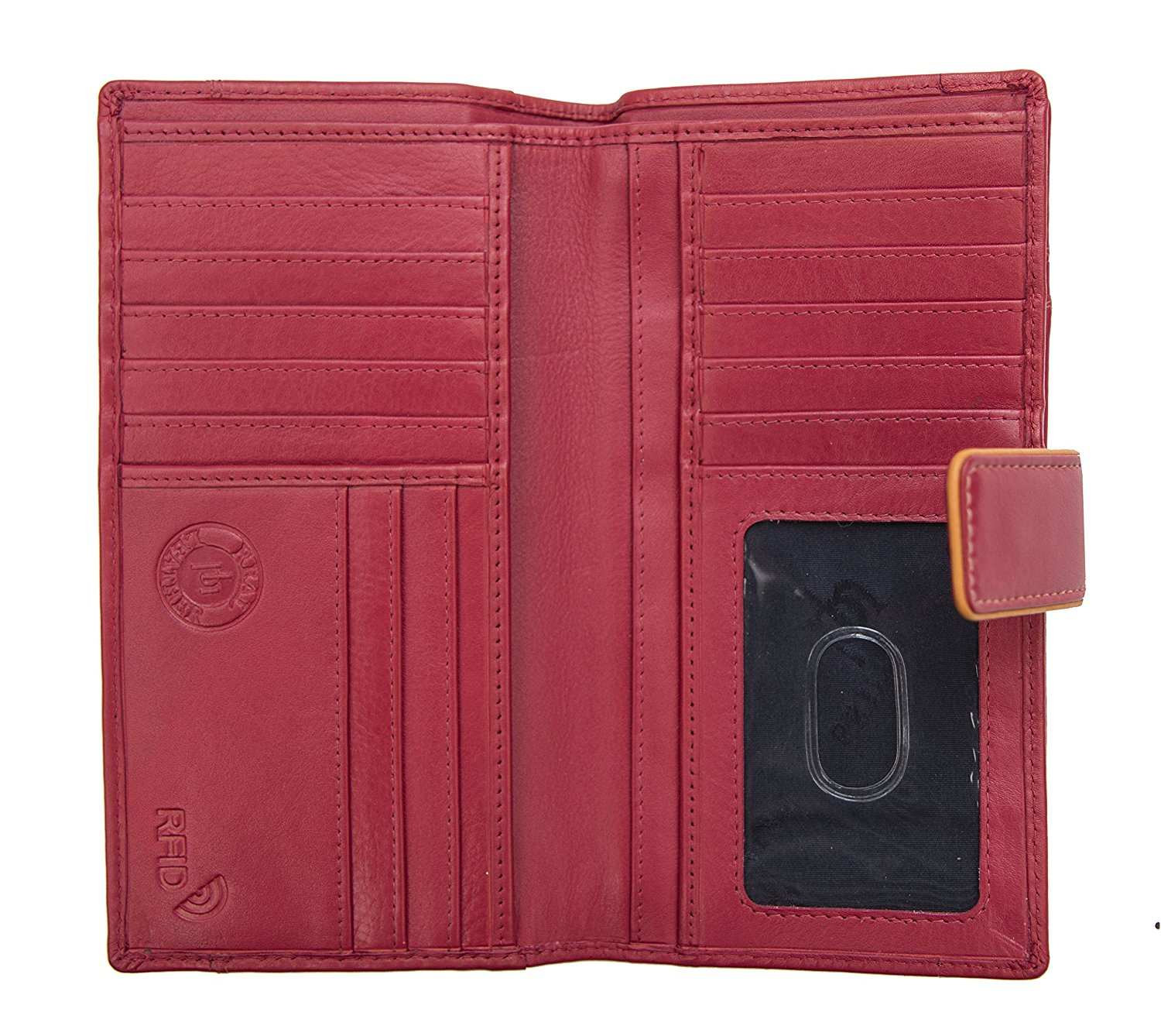 Femmes-Extra-Large-en-Cuir-Veritable-RFID-Bloquant-Organisateur-Clutch-Wallet-purse miniature 21