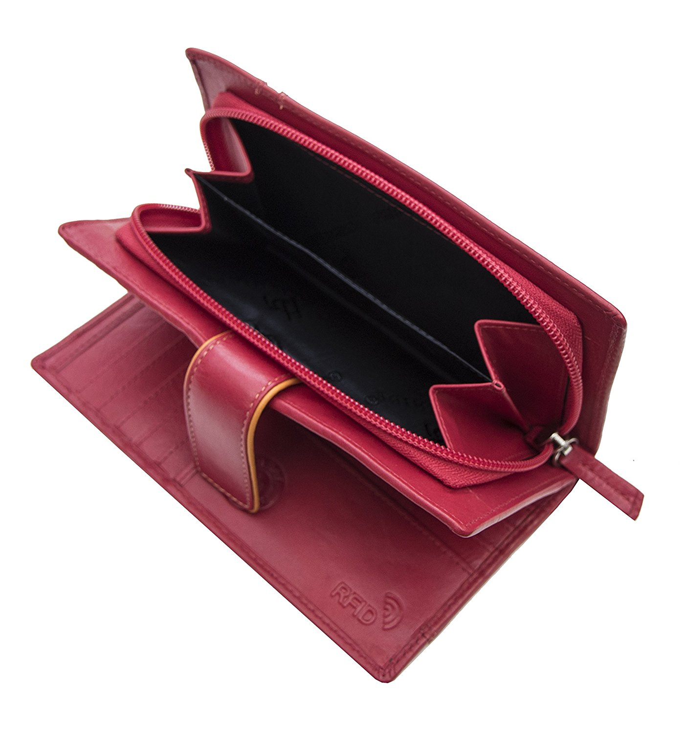 Femmes-Extra-Large-en-Cuir-Veritable-RFID-Bloquant-Organisateur-Clutch-Wallet-purse miniature 24