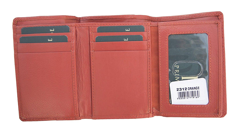 Femmes-Super-Doux-Cuir-Veritable-Tri-Fold-purse-coin-Section-Violet-Red-Plum miniature 28