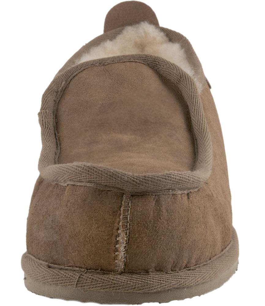 s Gents Mouton doux épais de Mouton Gents Véritable Boot Slipper Boot dur semelle Chestnut cc147e