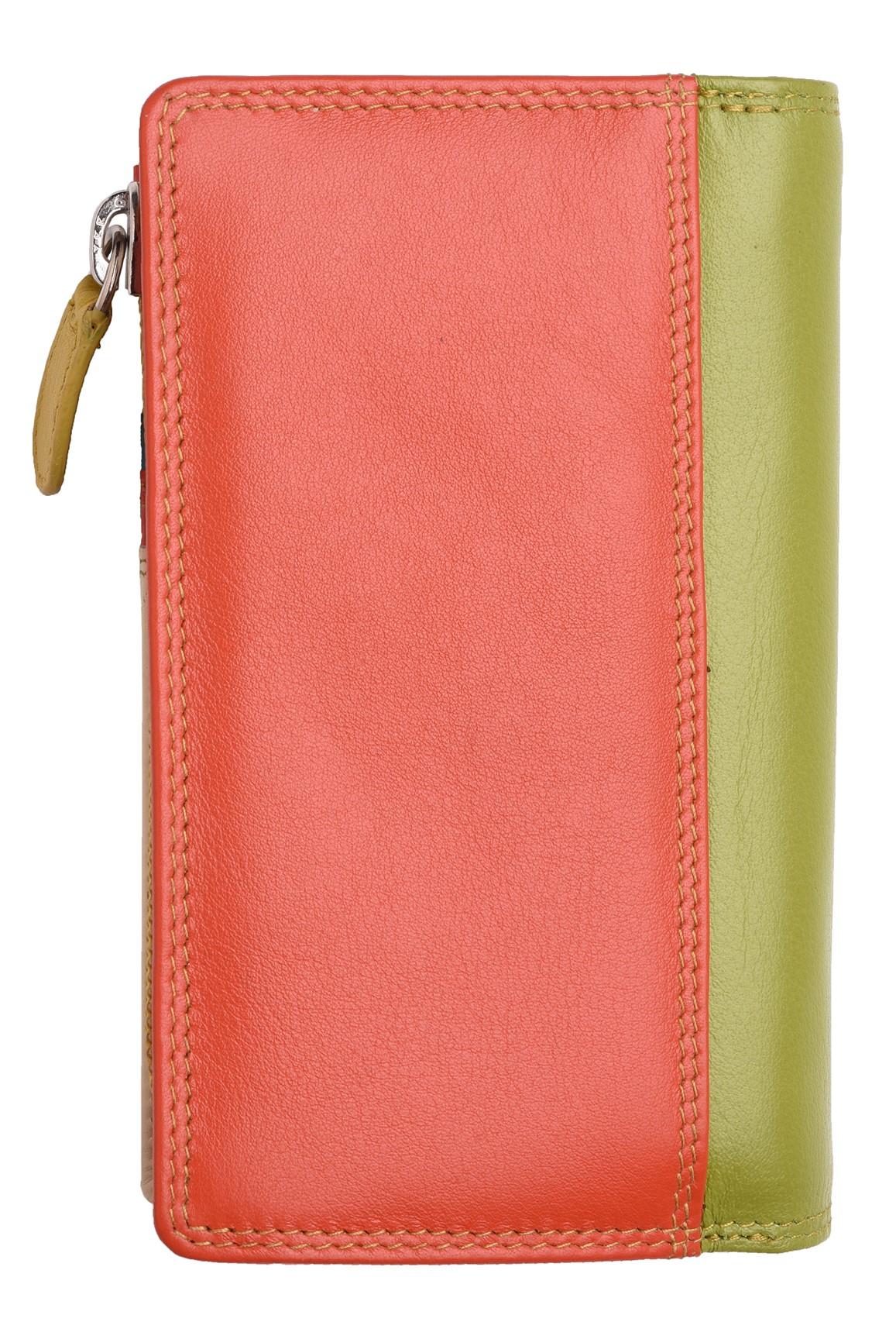Femme-Veritable-Multi-Couleur-RFID-Blocage-De-Haute-Qualite-Sac-a-Main-Portefeuille miniature 19