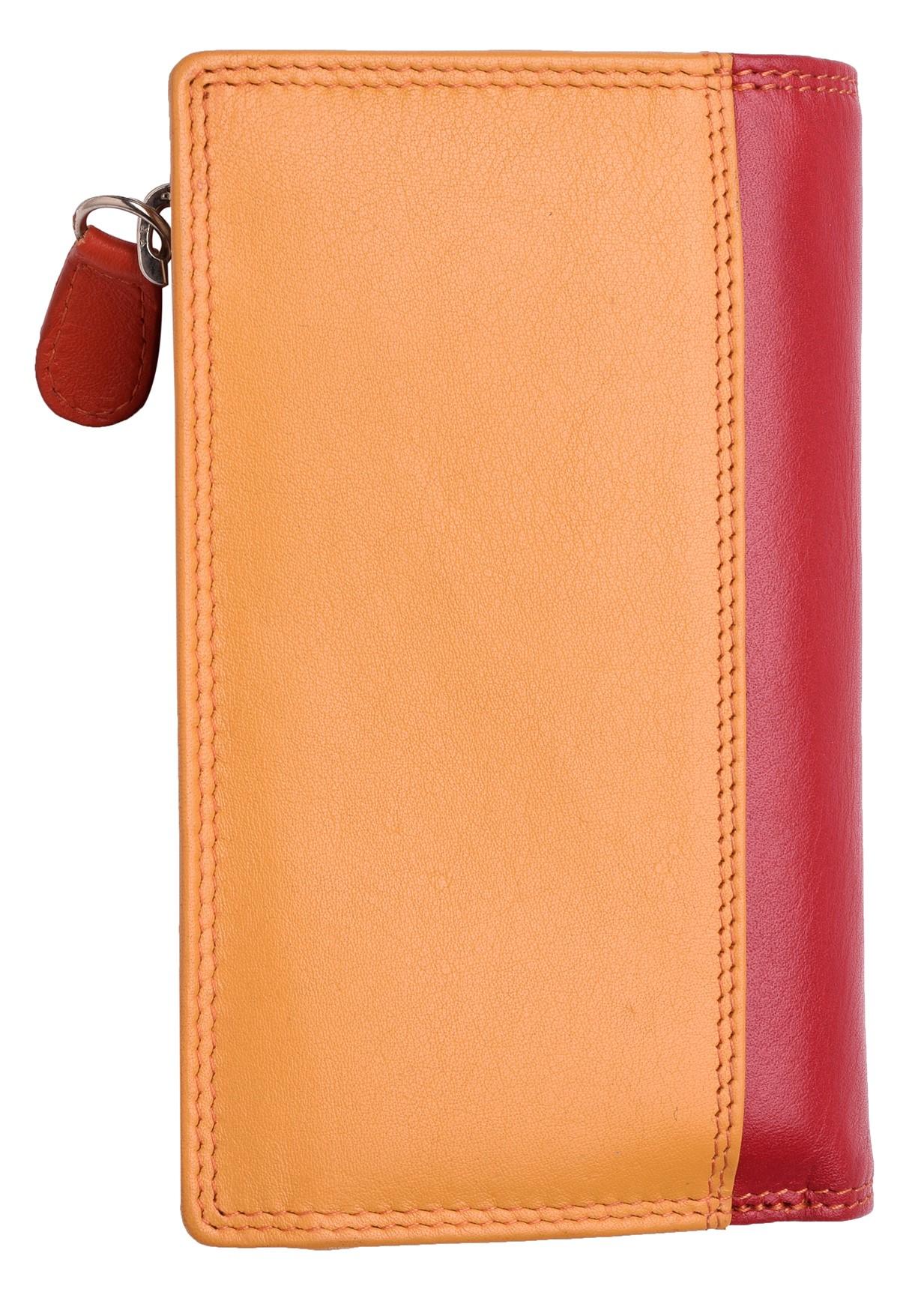 Femme-Veritable-Multi-Couleur-RFID-Blocage-De-Haute-Qualite-Sac-a-Main-Portefeuille miniature 4