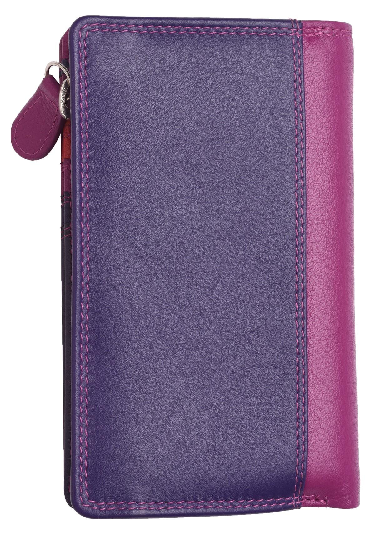 Femme-Veritable-Multi-Couleur-RFID-Blocage-De-Haute-Qualite-Sac-a-Main-Portefeuille miniature 13