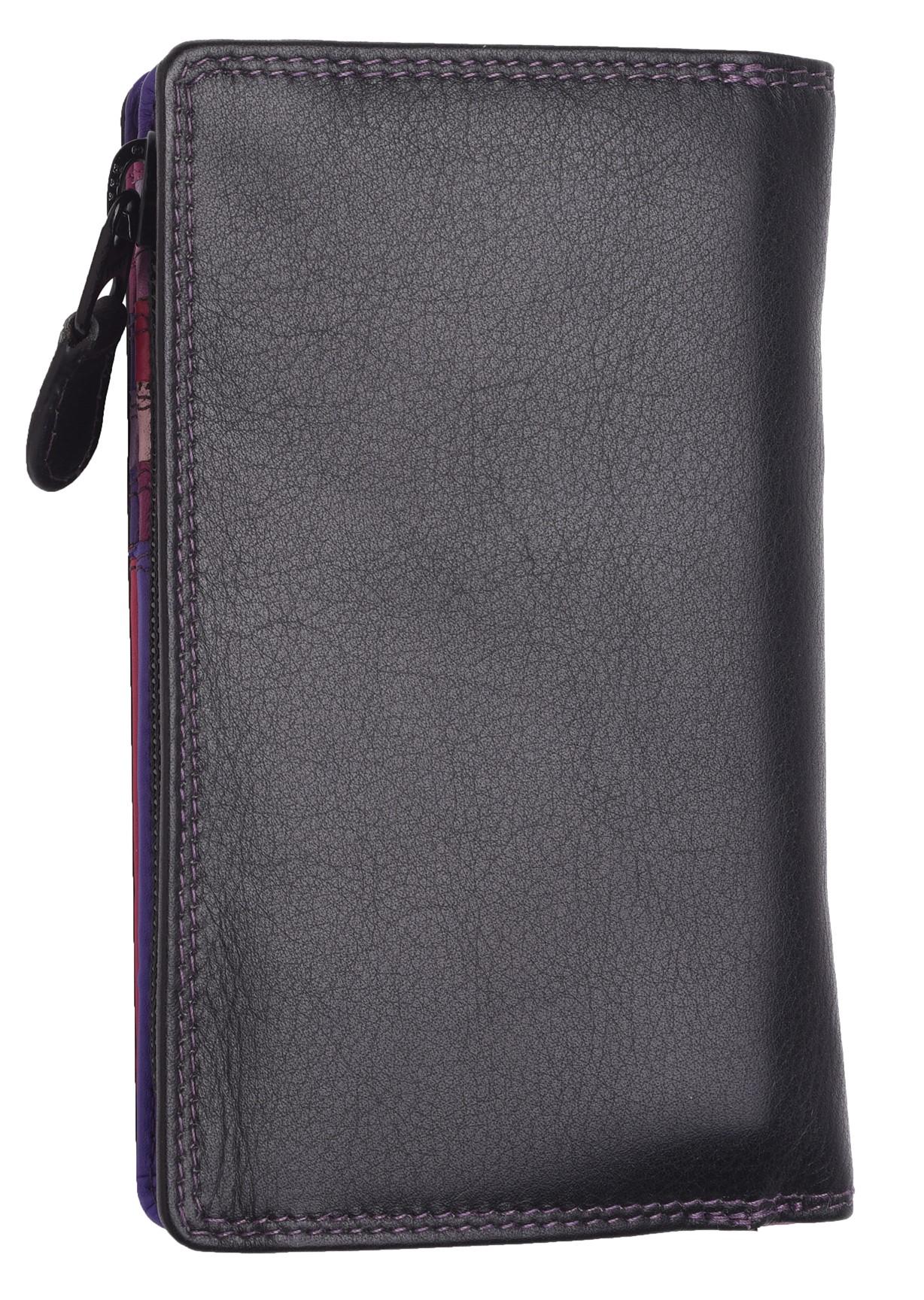 Femme-Veritable-Multi-Couleur-RFID-Blocage-De-Haute-Qualite-Sac-a-Main-Portefeuille miniature 28