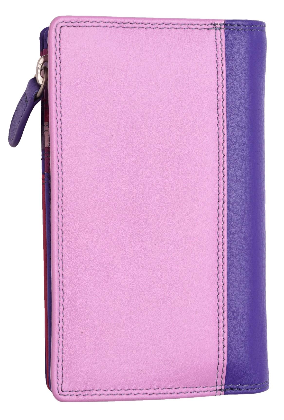Femme-Veritable-Multi-Couleur-RFID-Blocage-De-Haute-Qualite-Sac-a-Main-Portefeuille miniature 25