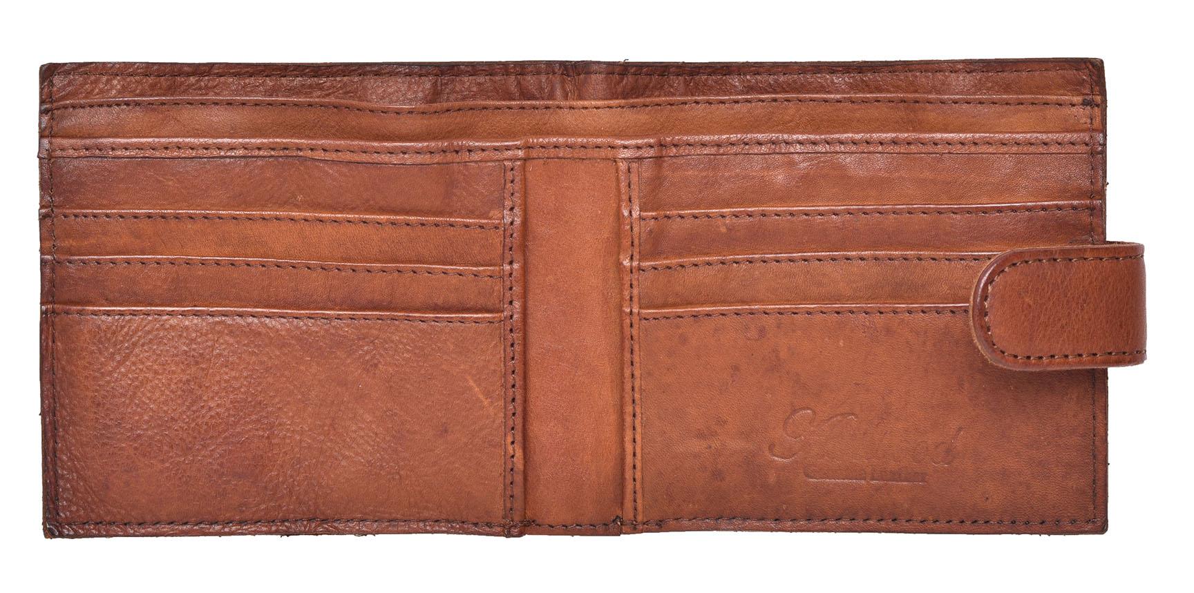 Vintage-pour-homme-Crinkle-Cuir-Bi-Fold-Portefeuille-par-Ashwood