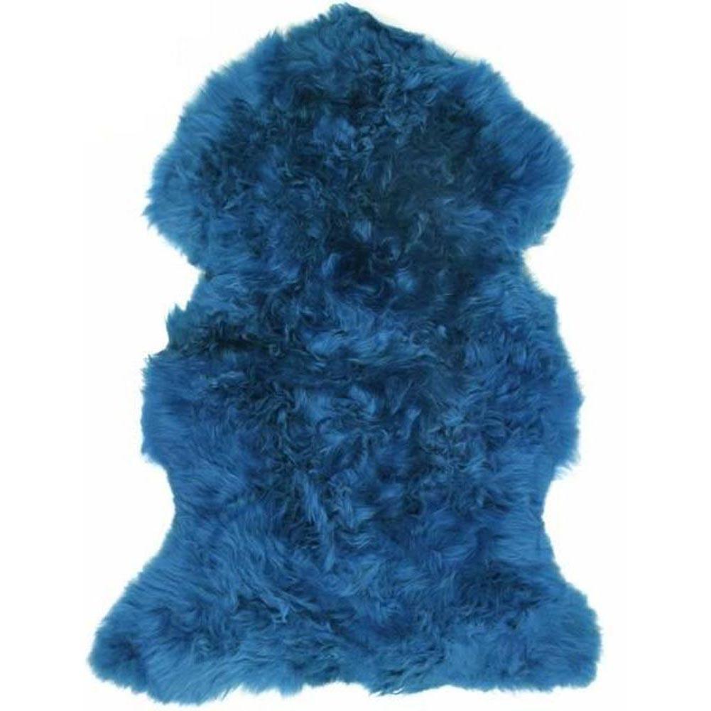 Super Doux Véritable De Luxe Luxe Luxe Large Bleu Clair en peau de mouton Tapis Peau Peau Laine Épaisse   Approvisionnement Suffisant  103236