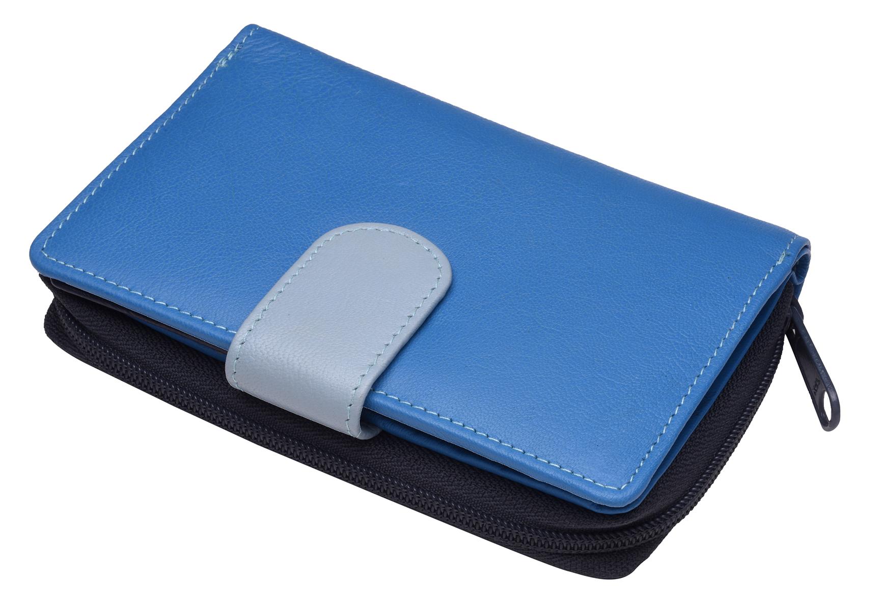 Ladies-Womens-RFID-Blocking-Safe-Leather-Bifold-Medium-Purse-Wallet-Coin-Section thumbnail 23