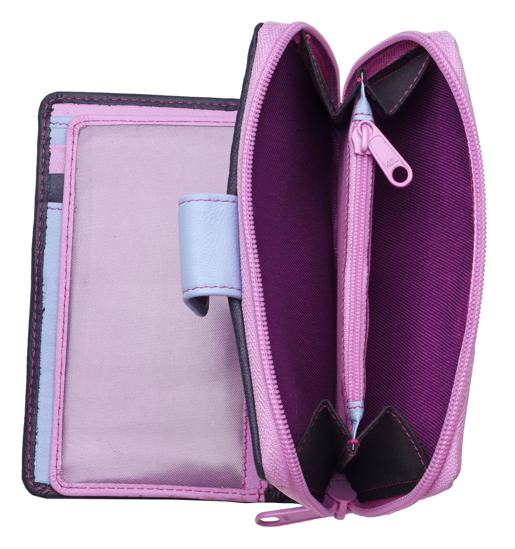 Ladies-Womens-RFID-Blocking-Safe-Leather-Bifold-Medium-Purse-Wallet-Coin-Section thumbnail 13