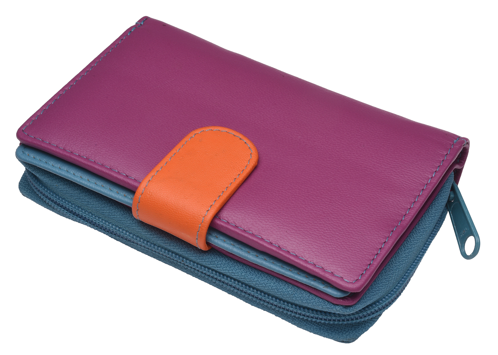 Ladies-Womens-RFID-Blocking-Safe-Leather-Bifold-Medium-Purse-Wallet-Coin-Section thumbnail 7