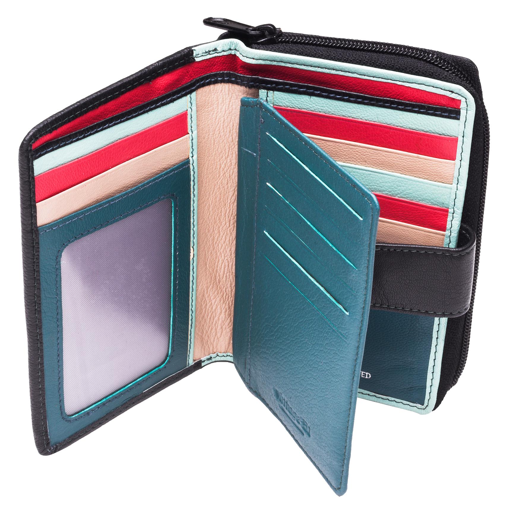 Ladies-Womens-RFID-Blocking-Safe-Leather-Bifold-Medium-Purse-Wallet-Coin-Section thumbnail 20