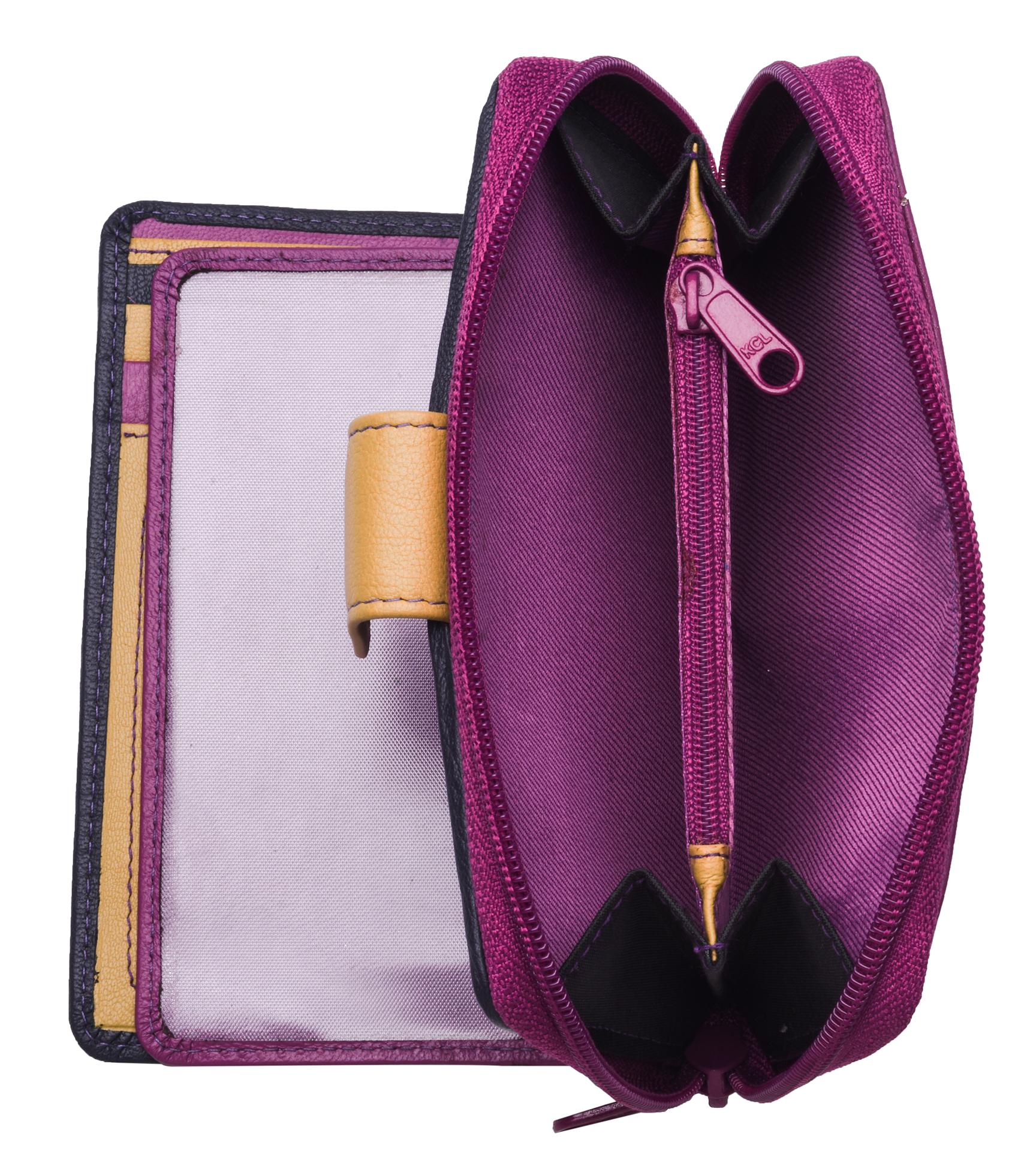 Ladies-Womens-RFID-Blocking-Safe-Leather-Bifold-Medium-Purse-Wallet-Coin-Section thumbnail 5