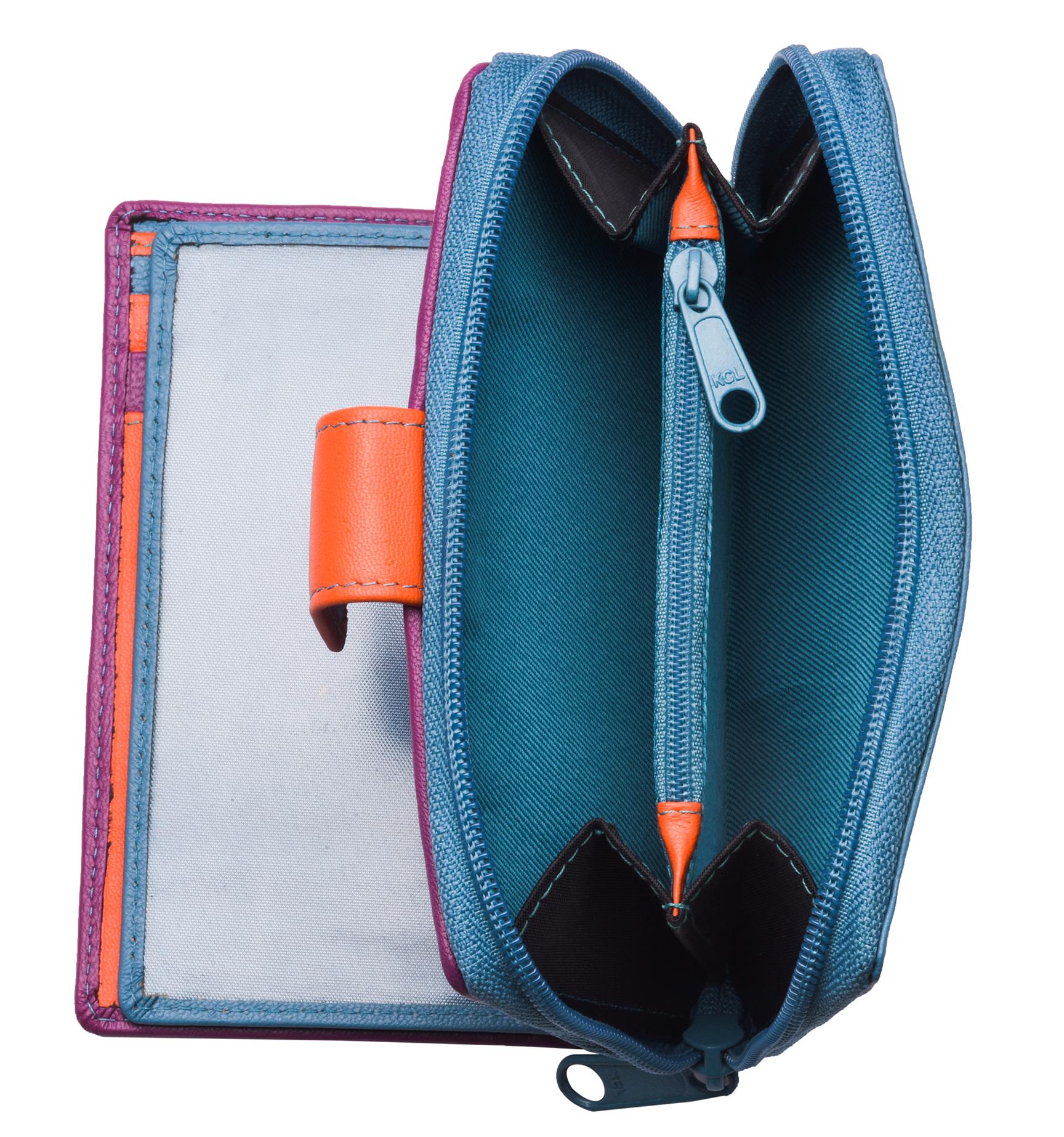 Ladies-Womens-RFID-Blocking-Safe-Leather-Bifold-Medium-Purse-Wallet-Coin-Section thumbnail 9