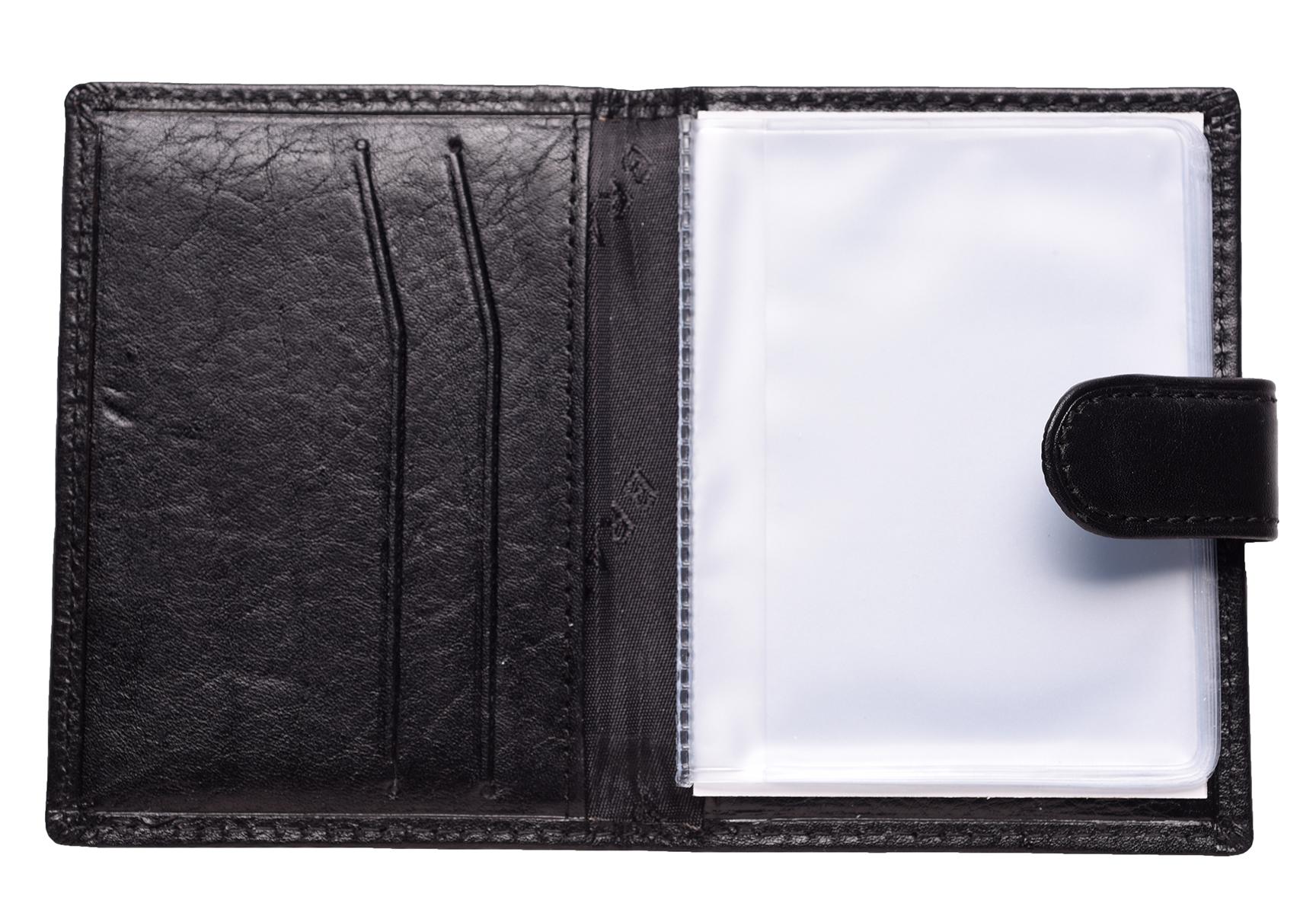 Mens Ladies Genuine Leather Credit Store Loyalty Card ID Holder Case Black Tan