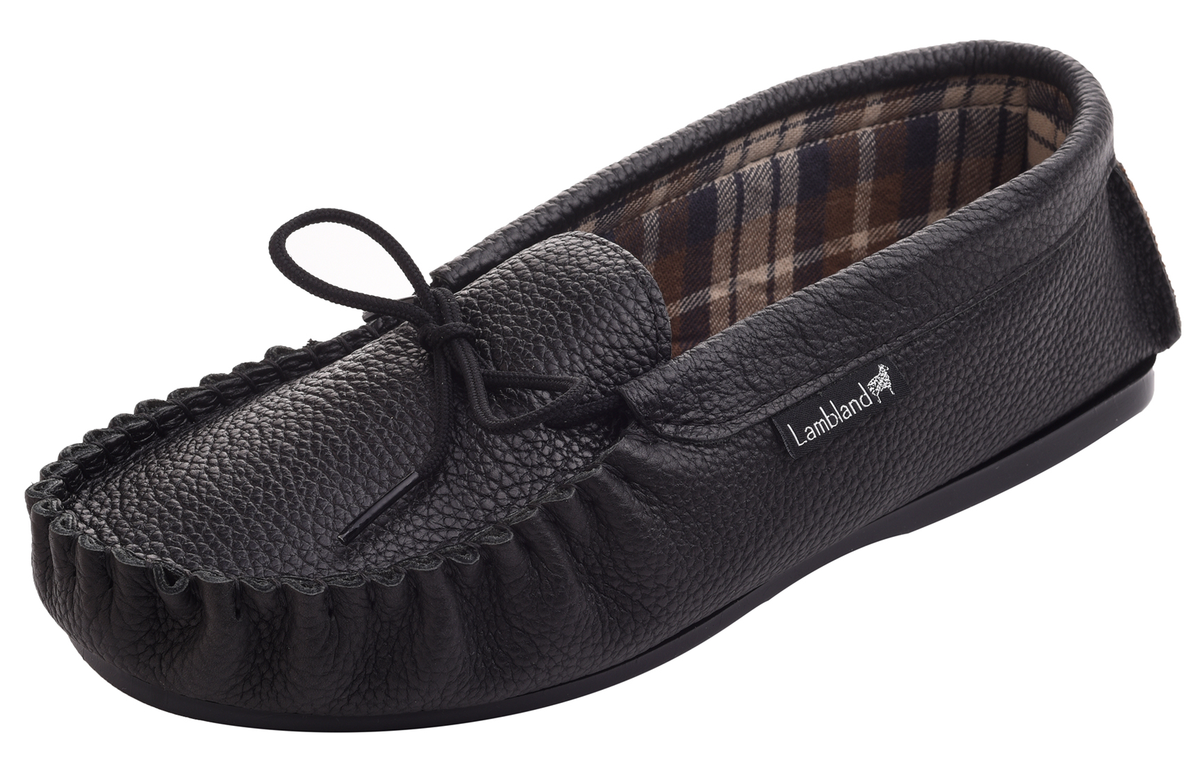 Leather-Moccasin-Slippers-UK-Made-for-Men-and-Ladies-Cotton-Lining-by-Lambland thumbnail 3