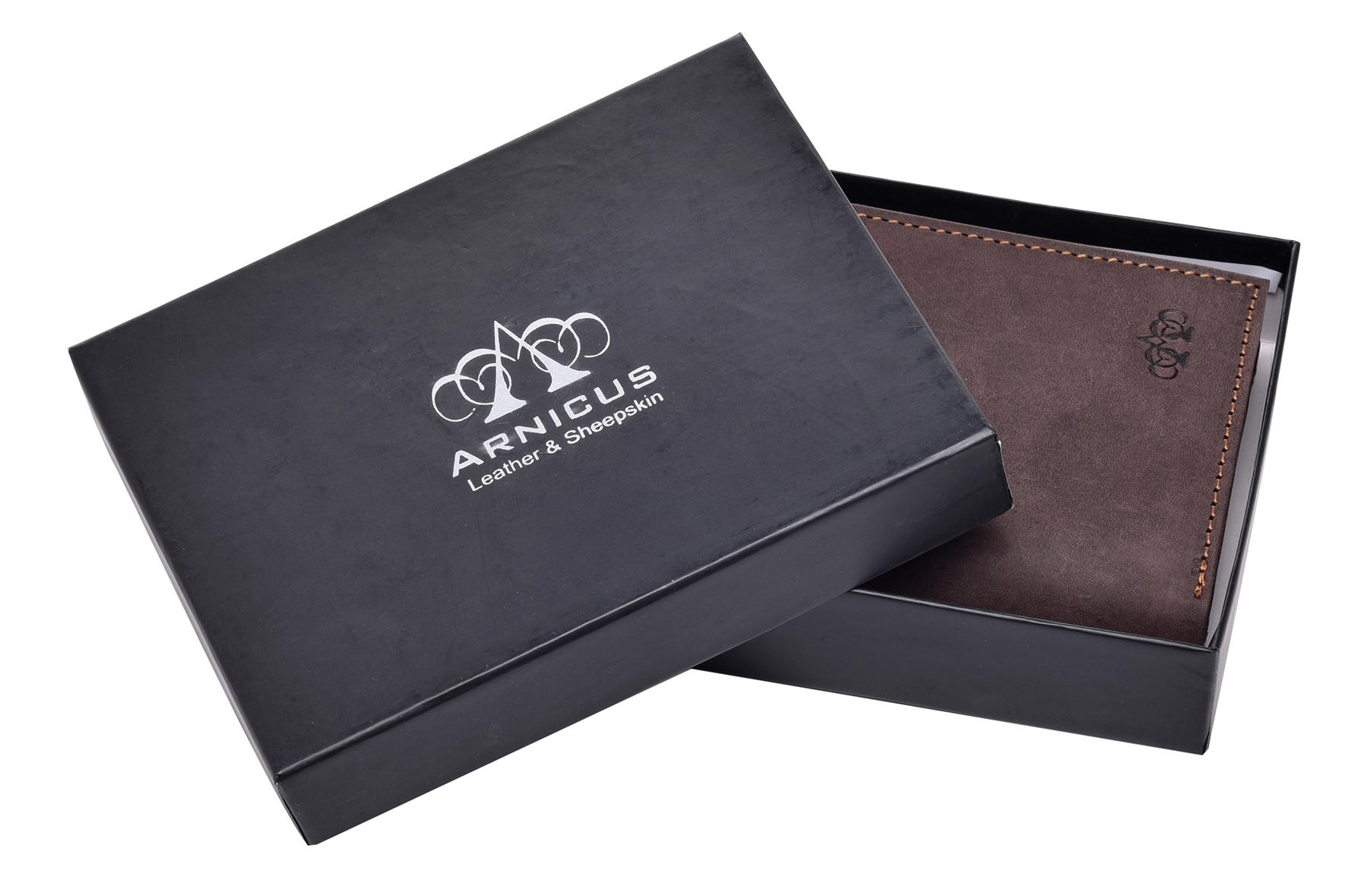 Homme-effet-vieilli-Cuir-Veritable-Trifold-Wallet-Purse-RFID-Bloquant-Marron-Noir miniature 10