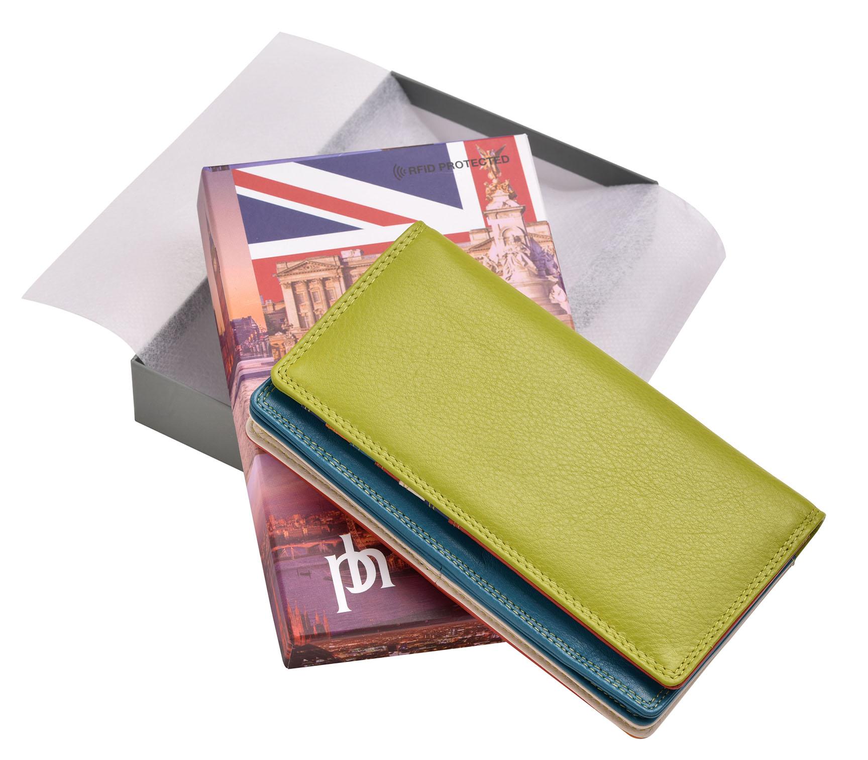FEMMES-SUPER-DOUX-D-039-ORIGINE-LUXE-en-cuir-Enveloppe-RFID-Bloquant-Purse-Wallet miniature 17