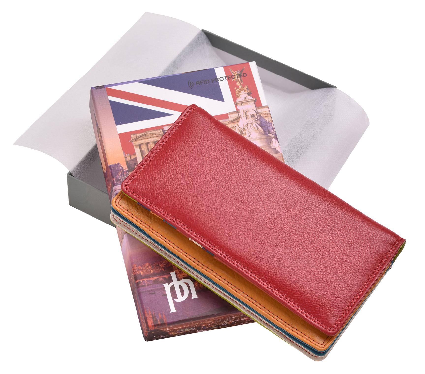 FEMMES-SUPER-DOUX-D-039-ORIGINE-LUXE-en-cuir-Enveloppe-RFID-Bloquant-Purse-Wallet miniature 13