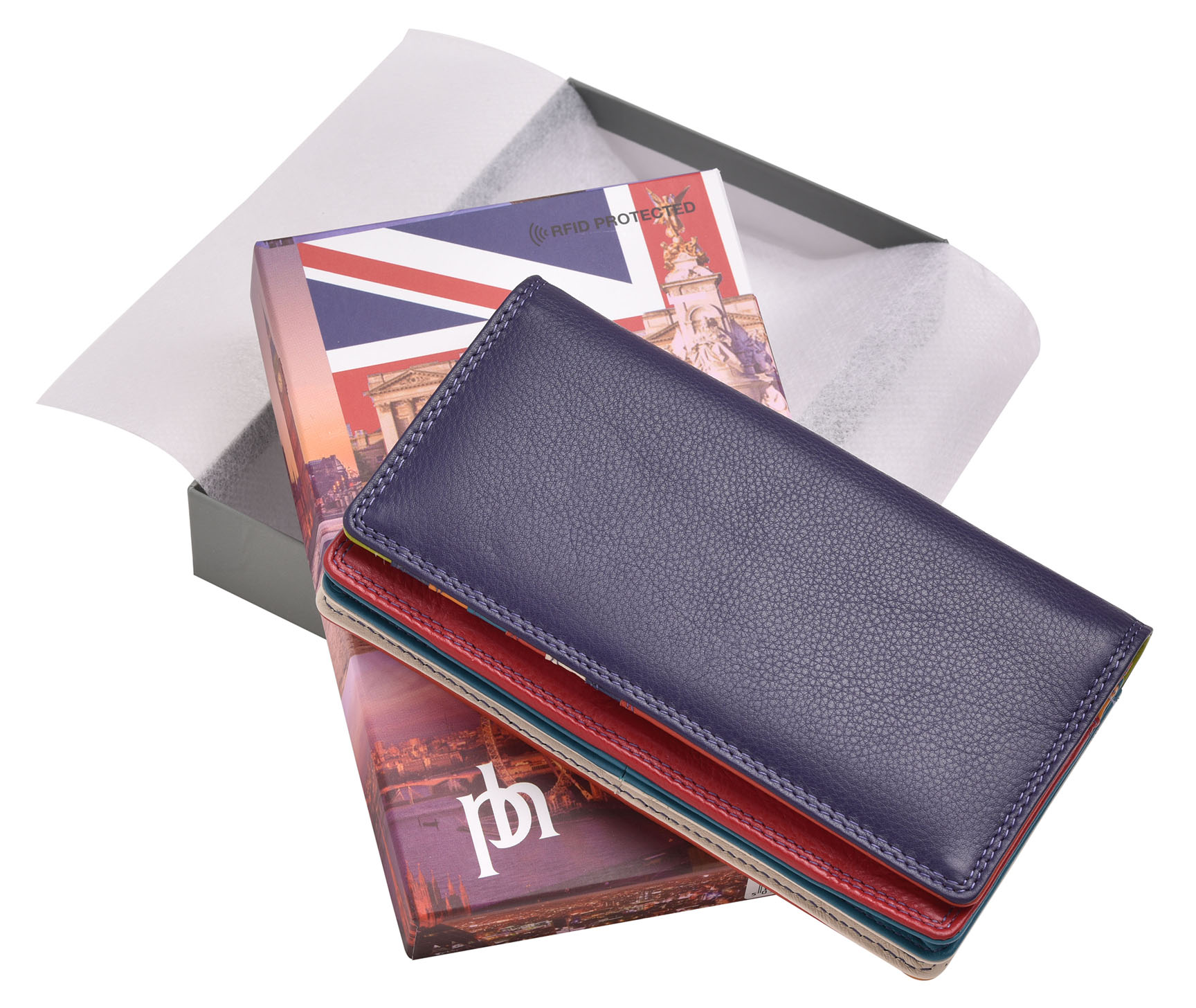 FEMMES-SUPER-DOUX-D-039-ORIGINE-LUXE-en-cuir-Enveloppe-RFID-Bloquant-Purse-Wallet miniature 9