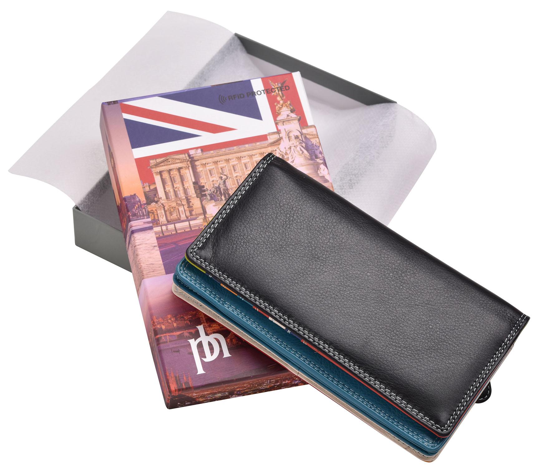 FEMMES-SUPER-DOUX-D-039-ORIGINE-LUXE-en-cuir-Enveloppe-RFID-Bloquant-Purse-Wallet miniature 5