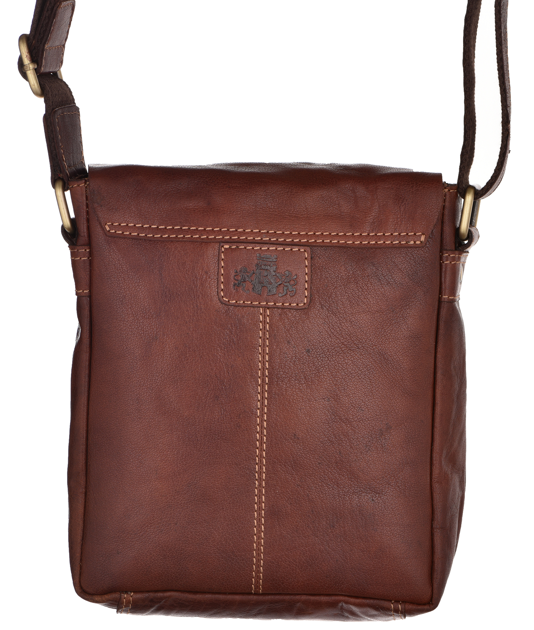 Mens Womens Small Vintage Leather Flap