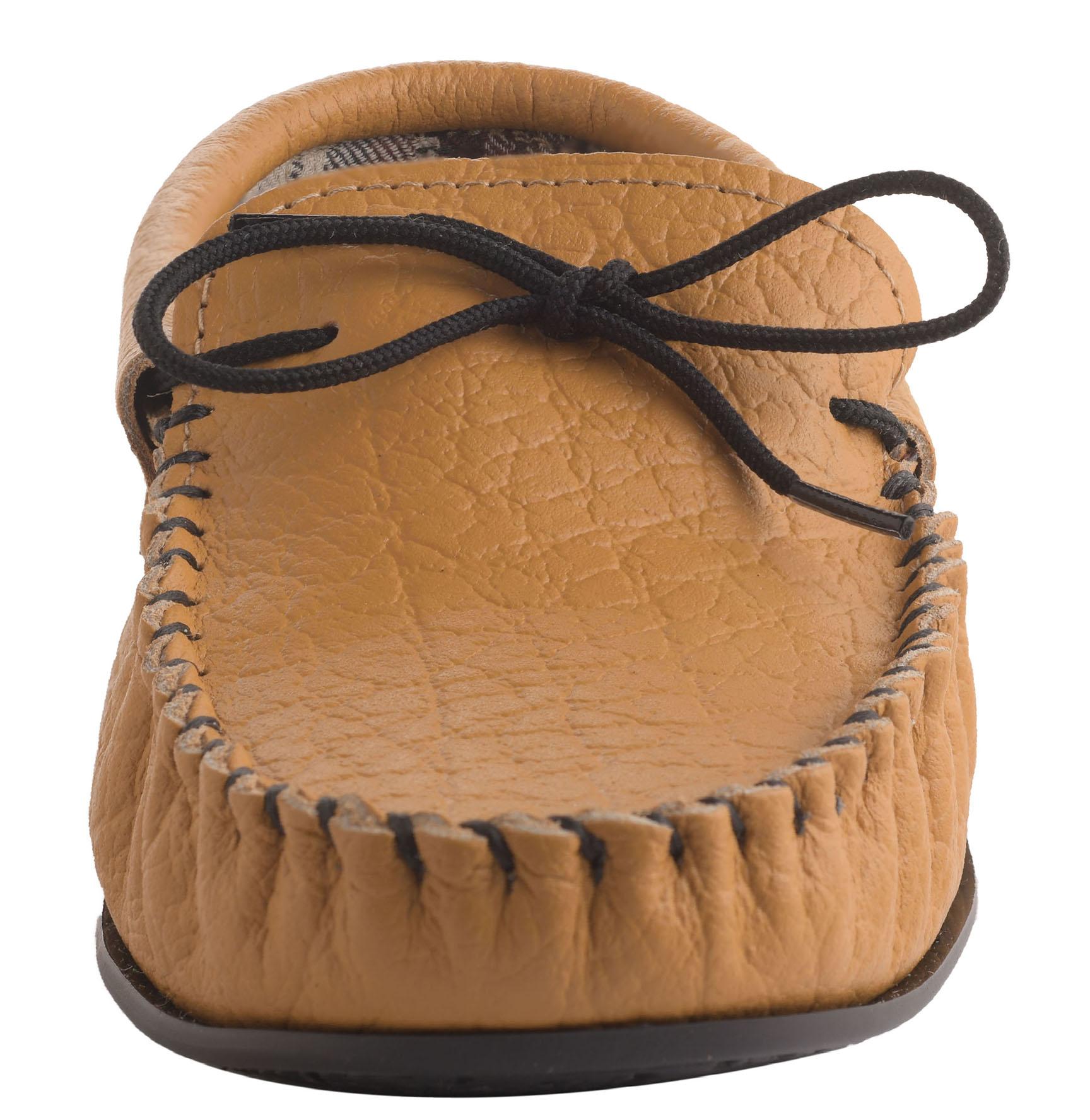 e286dc8dfc8 Mens Gents Tan Genuine Leather Moccasin Slipper Cotton PVC Sole UK7 ...