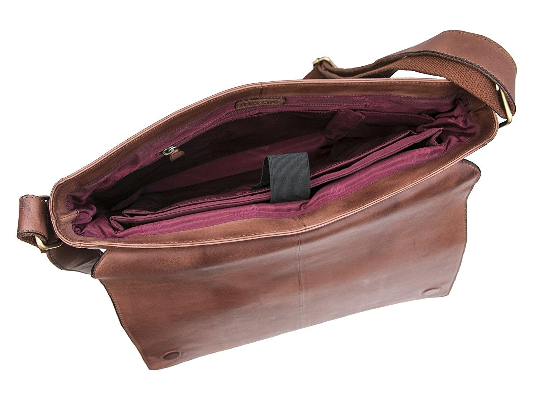 et pour tablette cuir ordinateur en avec vintage bandoulière messenger homme portable brun Sac à qSTfS1