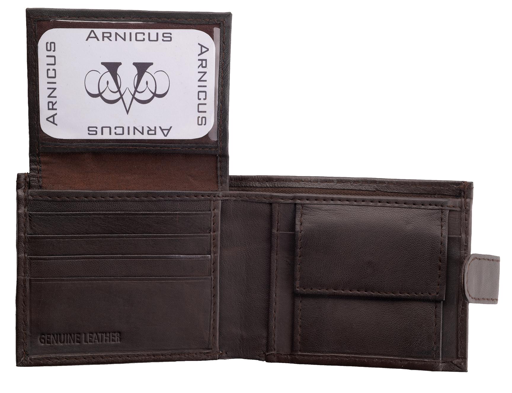 Arnicus-Homme-Gents-Doux-Cuir-Veritable-Flip-Up-Portefeuille-RFID-Bloquant miniature 7
