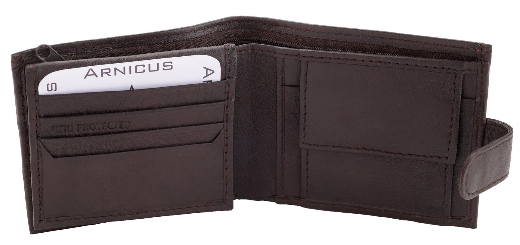 Arnicus-Homme-Gents-Doux-Cuir-Veritable-Flip-Up-Portefeuille-RFID-Bloquant miniature 6