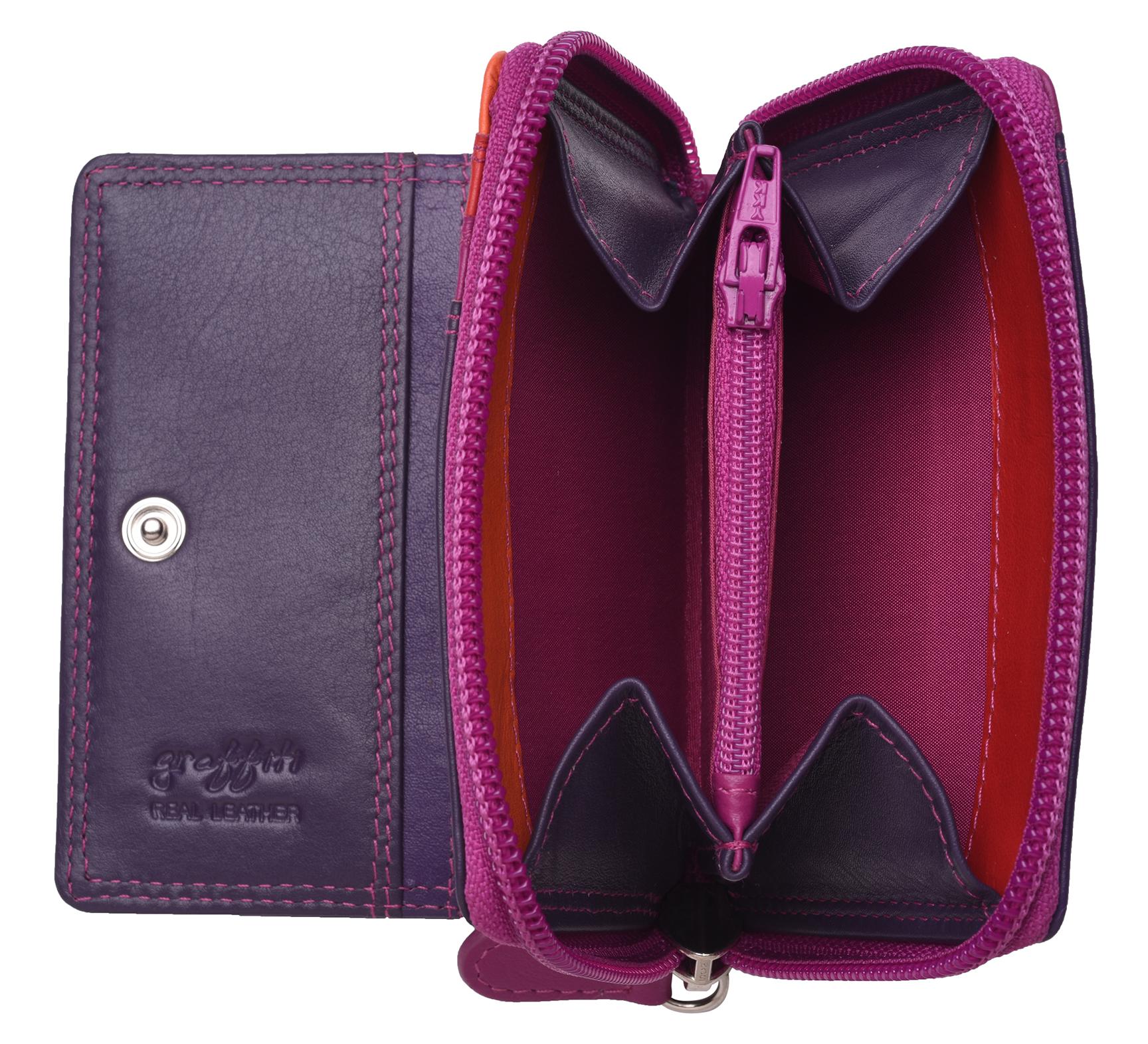 Femme-Femmes-RFID-Bloquant-en-Cuir-Veritable-Petit-Sac-a-main-portefeuille-vert-rose-rouge miniature 19