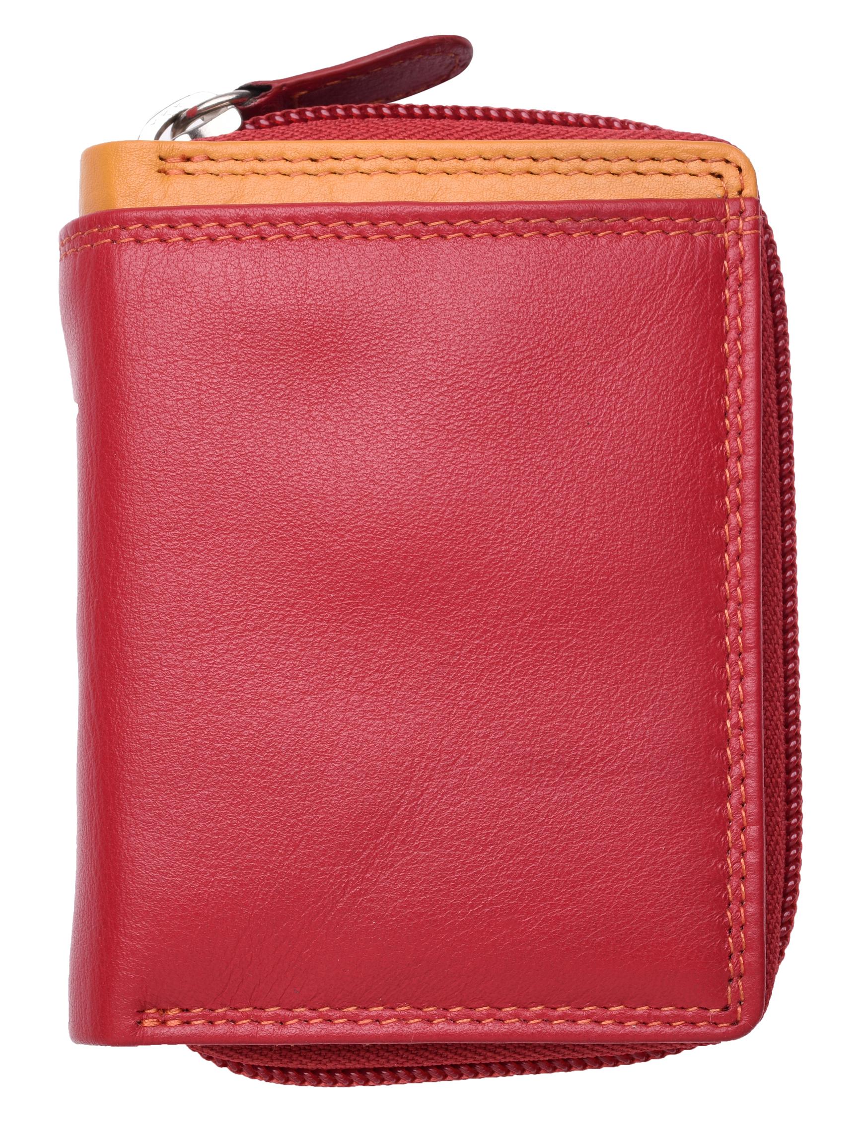 Femme-Femmes-RFID-Bloquant-en-Cuir-Veritable-Petit-Sac-a-main-portefeuille-vert-rose-rouge miniature 5