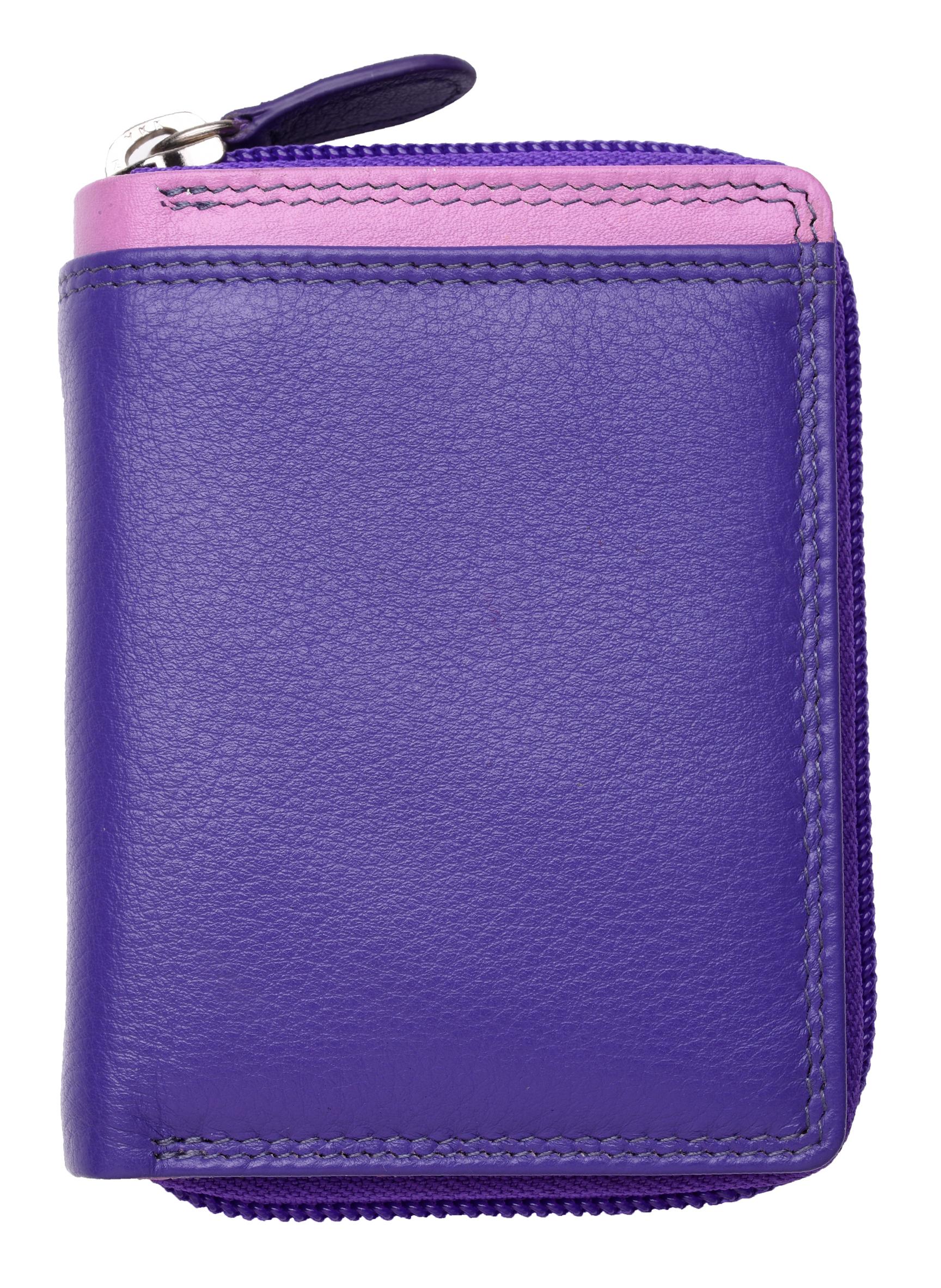 Femme-Femmes-RFID-Bloquant-en-Cuir-Veritable-Petit-Sac-a-main-portefeuille-vert-rose-rouge miniature 33