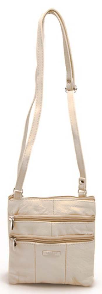 Ladies-Leather-Multi-Zip-Handbag-with-Crossbody-Shoulder-Strap thumbnail 25