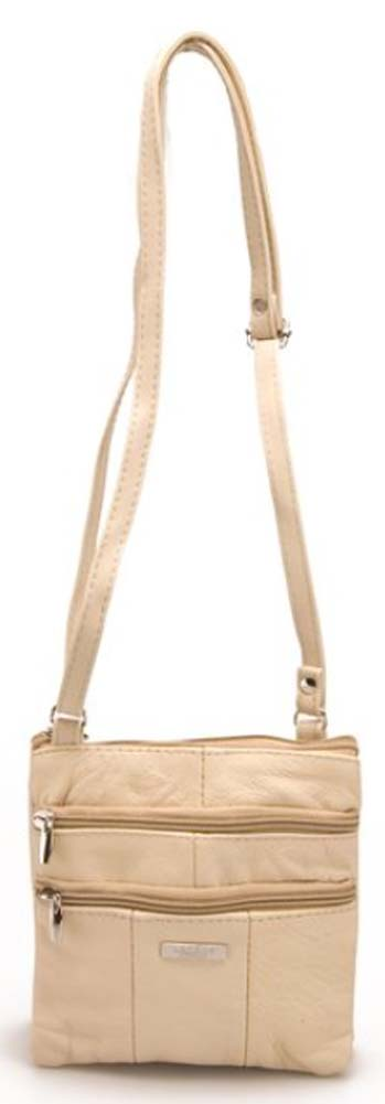 Ladies-Leather-Multi-Zip-Handbag-with-Crossbody-Shoulder-Strap thumbnail 22