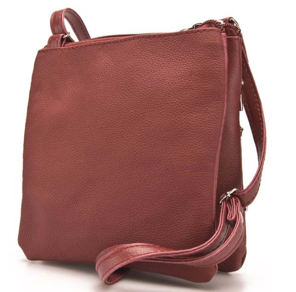 Ladies-Leather-Multi-Zip-Handbag-with-Crossbody-Shoulder-Strap thumbnail 18