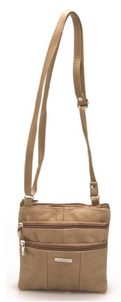 Ladies-Leather-Multi-Zip-Handbag-with-Crossbody-Shoulder-Strap thumbnail 13