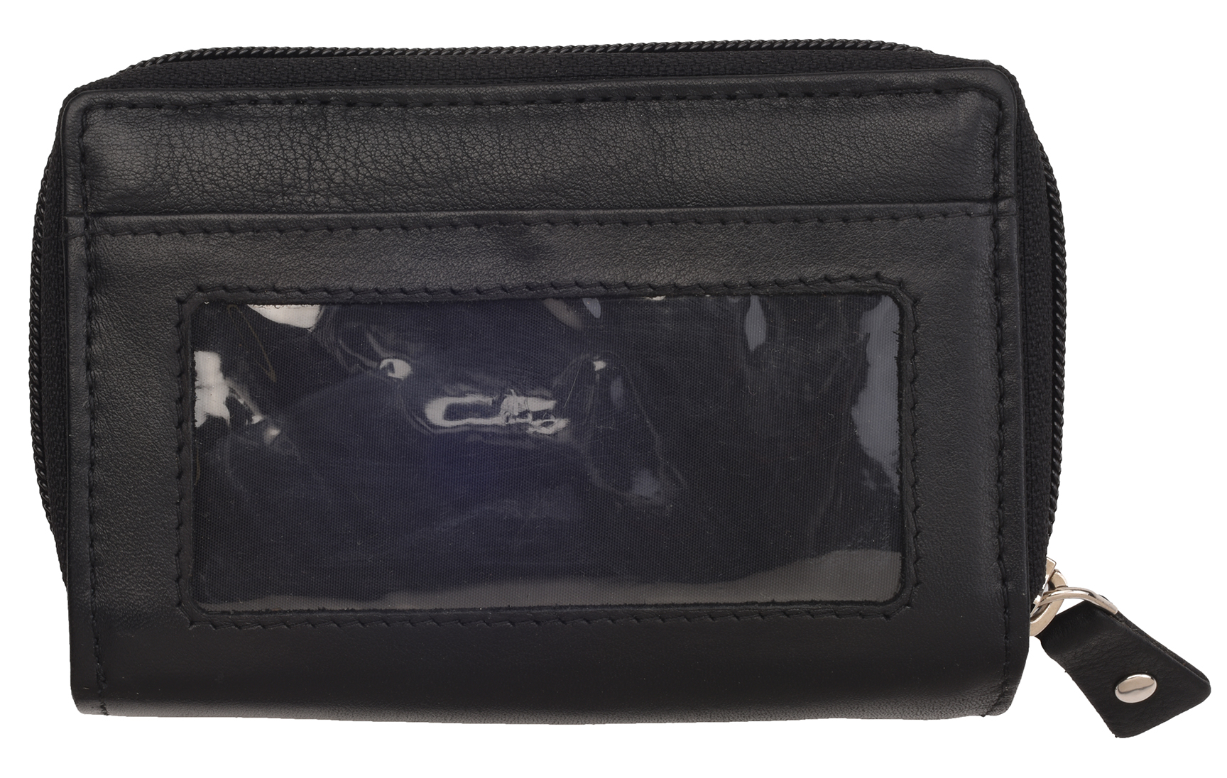 Ladies-Womens-Luxury-Super-Soft-Genuine-Leather-RFID-Blocking-Wallet-Purse-Black miniature 4