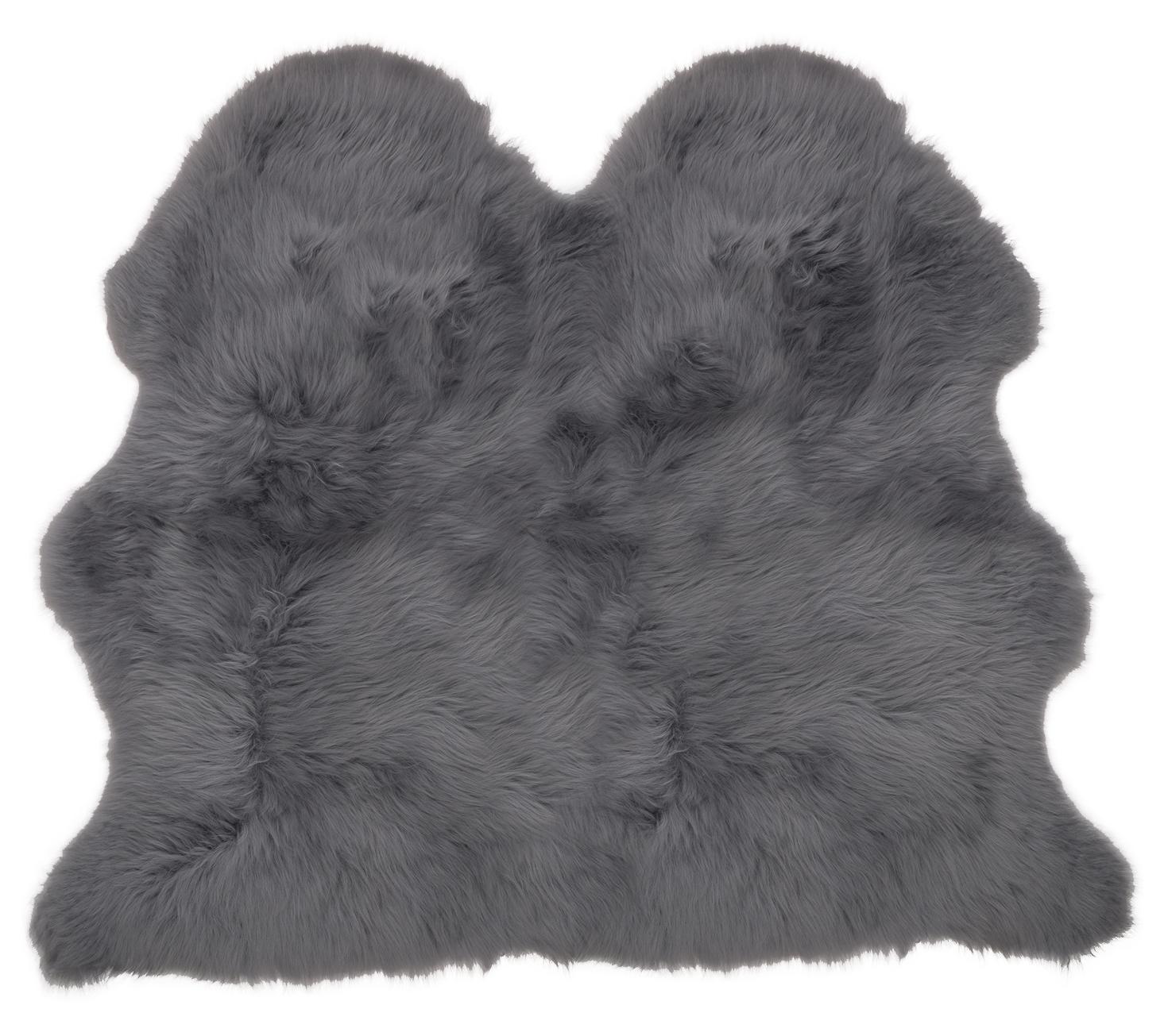 Large UK Made Gris Ardoise de véritable peau de Ardoise mouton Tapis masquer Pelt Peau douce de luxe 6dfda7