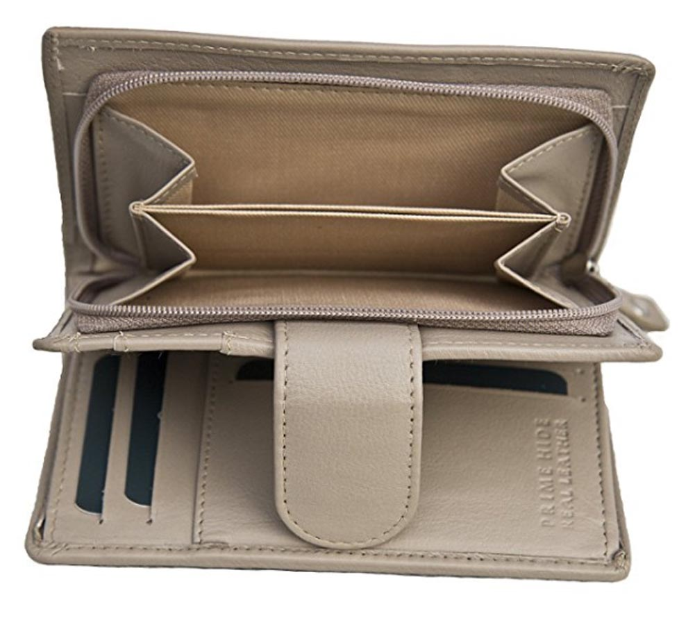 Ladies-Womens-Super-Soft-Large-Genuine-Leather-Purse-Wallet-Zipped-Coin-Section miniature 22