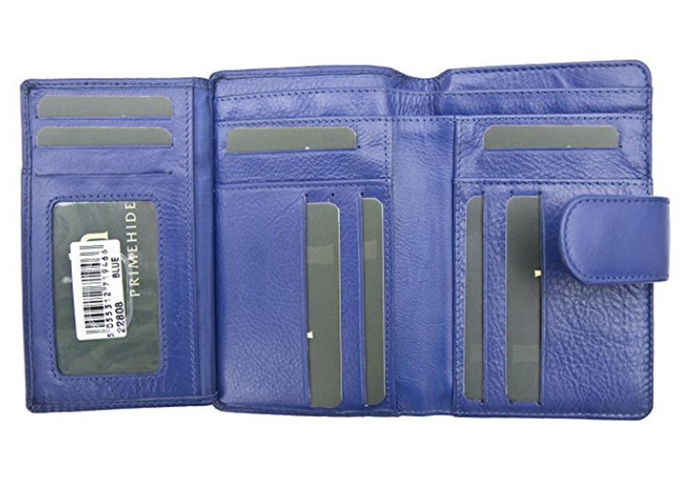 Ladies-Womens-Super-Soft-Large-Genuine-Leather-Purse-Wallet-Zipped-Coin-Section miniature 18