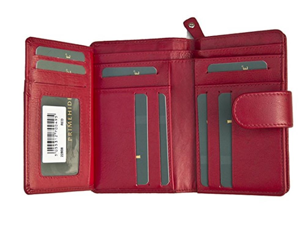 Ladies-Womens-Super-Soft-Large-Genuine-Leather-Purse-Wallet-Zipped-Coin-Section miniature 12