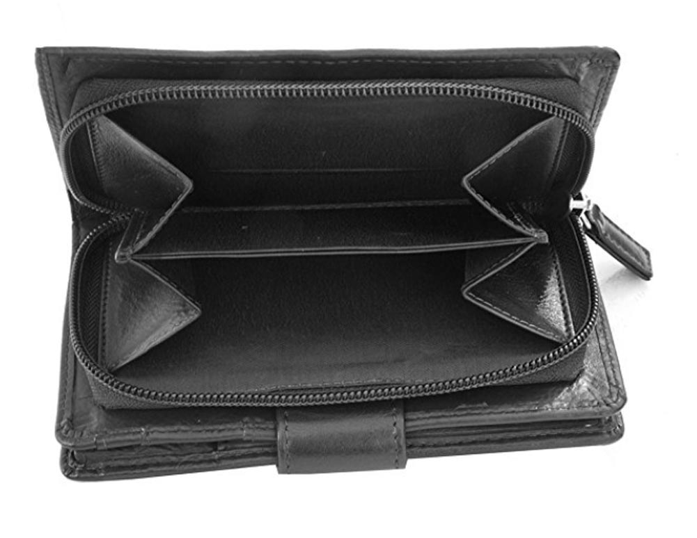 Ladies-Womens-Super-Soft-Large-Genuine-Leather-Purse-Wallet-Zipped-Coin-Section miniature 4