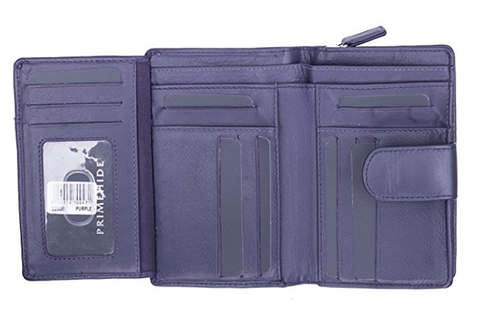 Ladies-Womens-Super-Soft-Large-Genuine-Leather-Purse-Wallet-Zipped-Coin-Section miniature 6