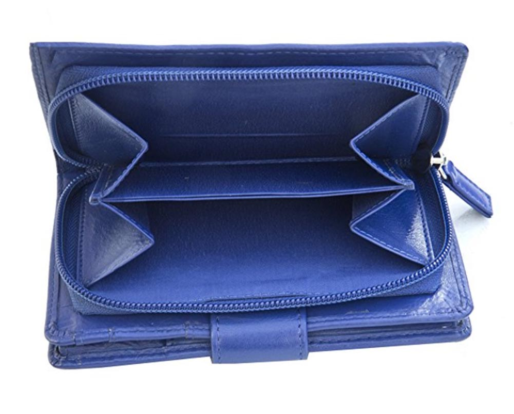 Ladies-Womens-Super-Soft-Large-Genuine-Leather-Purse-Wallet-Zipped-Coin-Section miniature 19