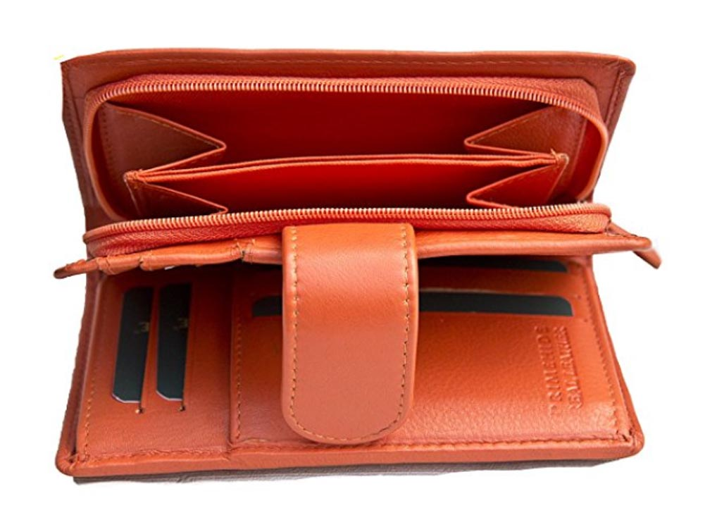 Ladies-Womens-Super-Soft-Large-Genuine-Leather-Purse-Wallet-Zipped-Coin-Section miniature 25