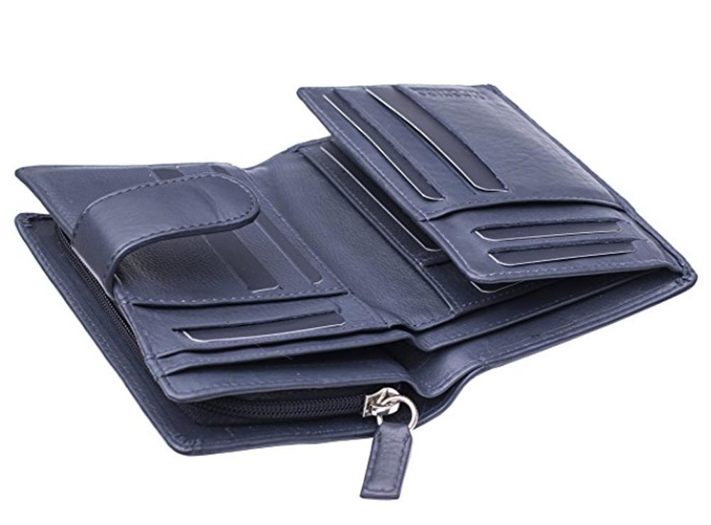 Ladies-Womens-Super-Soft-Large-Genuine-Leather-Purse-Wallet-Zipped-Coin-Section miniature 10