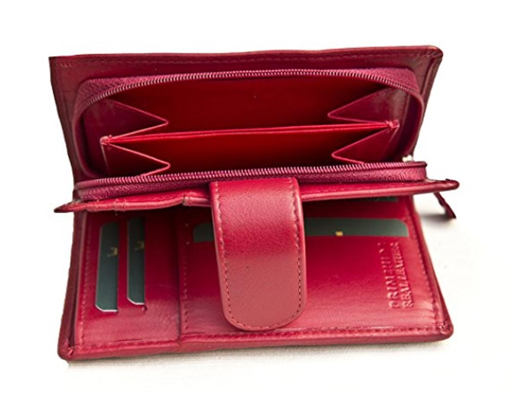 Ladies-Womens-Super-Soft-Large-Genuine-Leather-Purse-Wallet-Zipped-Coin-Section miniature 13